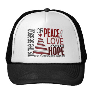 Peace Love Hope Christmas Head And Neck Cancer Mesh Hat