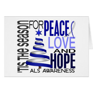Peace Love Hope Christmas Holiday ALS Card
