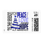 Peace Love Hope Christmas Holiday ALS Postage Stamps