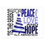 Peace Love Hope Christmas Holiday ALS Postcard