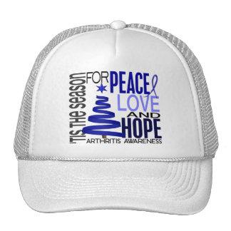 Peace Love Hope Christmas Holiday Arthritis Mesh Hat