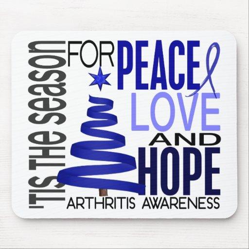 Peace Love Hope Christmas Holiday Arthritis Mousepad