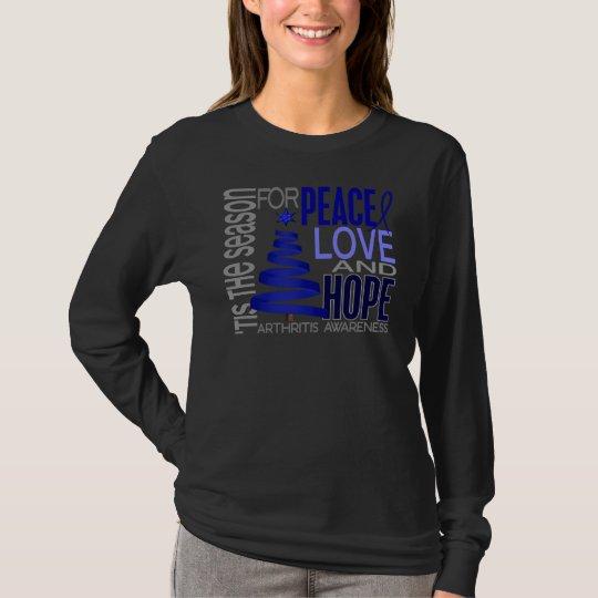 Peace Love Hope Christmas Holiday Arthritis T-Shirt