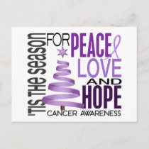 Peace Love Hope Christmas Holiday Cancer