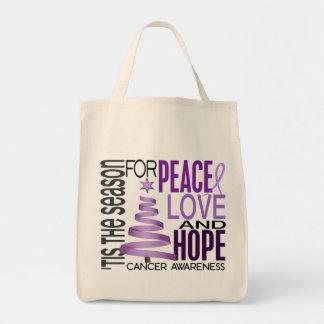 Peace Love Hope Christmas Holiday Cancer Bag