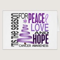 Peace Love Hope Christmas Holiday Cancer Card