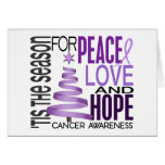 Peace Love Hope Christmas Holiday Cancer Cards
