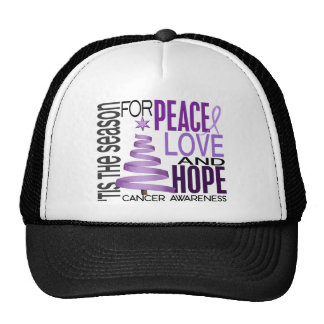 Peace Love Hope Christmas Holiday Cancer Hat