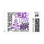 Peace Love Hope Christmas Holiday Cancer Postage Stamp