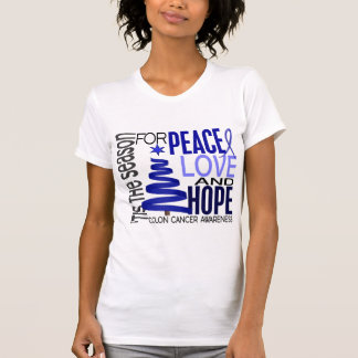 Peace Love Hope Christmas Holiday Colon Cancer Tanktops