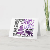 Peace Love Hope Christmas Holiday Cystic Fibrosis