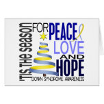 Peace Love Hope Christmas Holiday Down Syndrome Cards