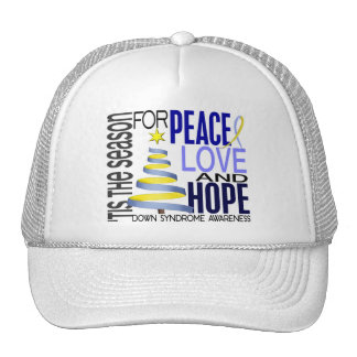 Peace Love Hope Christmas Holiday Down Syndrome Trucker Hat