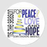 Peace Love Hope Christmas Holiday Down Syndrome Stickers