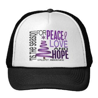 Peace Love Hope Christmas Holiday Epilepsy Hats
