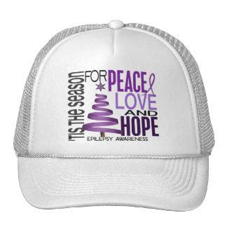 Peace Love Hope Christmas Holiday Epilepsy Mesh Hats