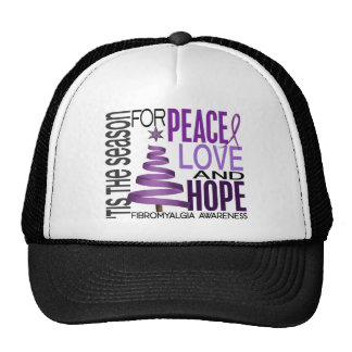 Peace Love Hope Christmas Holiday Fibromyalgia Hats
