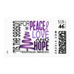 Peace Love Hope Christmas Holiday Fibromyalgia Postage