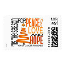 Peace Love Hope Christmas Holiday Kidney Cancer Postage