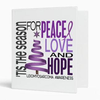 Peace Love Hope Christmas Holiday Leiomyosarcoma 3 Ring Binder