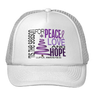 Peace Love Hope Christmas Holiday Lupus Trucker Hat