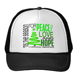 Peace Love Hope Christmas Holiday Lymphoma Hats