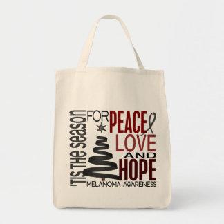 Peace Love Hope Christmas Holiday Melanoma Bags
