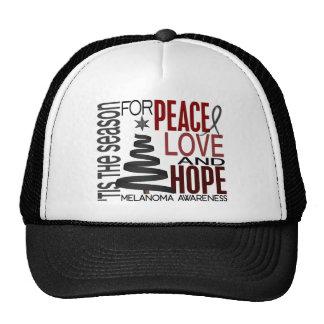 Peace Love Hope Christmas Holiday Melanoma Mesh Hats