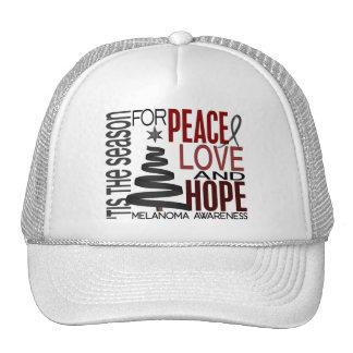 Peace Love Hope Christmas Holiday Melanoma Trucker Hat