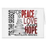 Peace Love Hope Christmas Holiday Mesothelioma Greeting Card