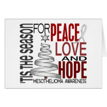 Peace Love Hope Christmas Holiday Mesothelioma Card