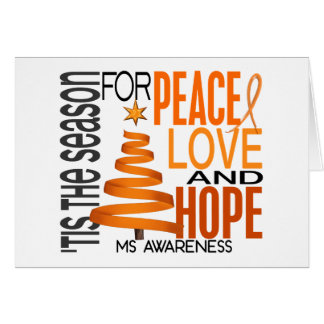 Peace Love Hope Christmas Holiday MS Card