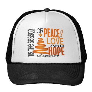 Peace Love Hope Christmas Holiday MS Hats