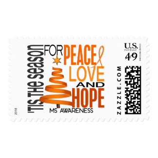 Peace Love Hope Christmas Holiday MS Postage Stamp