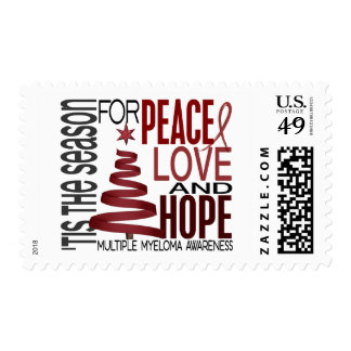 Peace Love Hope Christmas Holiday Multiple Myeloma Postage