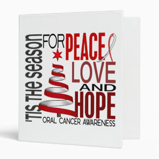 Peace Love Hope Christmas Holiday Oral Cancer Binders