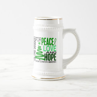 Peace Love Hope Christmas Holiday Organ Donation Mugs
