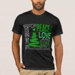 Peace Love Hope Christmas Holiday Organ Donation T-Shirt