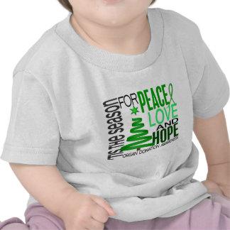 Peace Love Hope Christmas Holiday Organ Donation Tshirt