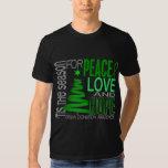 Peace Love Hope Christmas Holiday Organ Donation Tshirts