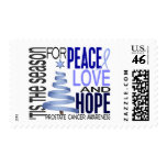 Peace Love Hope Christmas Holiday Prostate Cancer Stamp