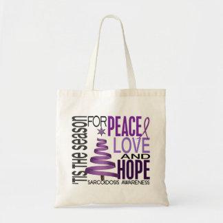 Peace Love Hope Christmas Holiday Sarcoidosis Bags