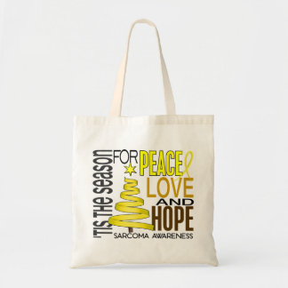Peace Love Hope Christmas Holiday Sarcoma Tote Bag