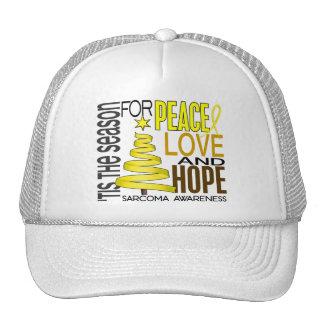 Peace Love Hope Christmas Holiday Sarcoma Trucker Hats