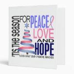 Peace Love Hope Christmas Holiday SIDS Vinyl Binders