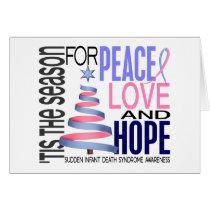 Peace Love Hope Christmas Holiday SIDS Card
