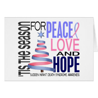 Peace Love Hope Christmas Holiday SIDS Card