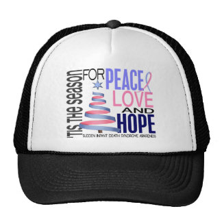 Peace Love Hope Christmas Holiday SIDS Hats
