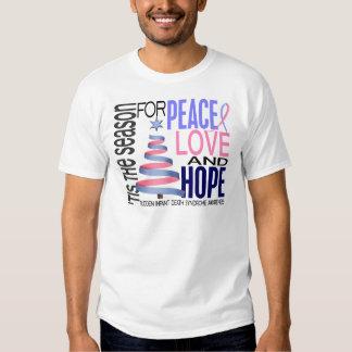 Peace Love Hope Christmas Holiday SIDS T-Shirt