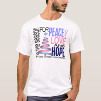 Peace Love Hope Christmas Holiday SIDS T-Shirt